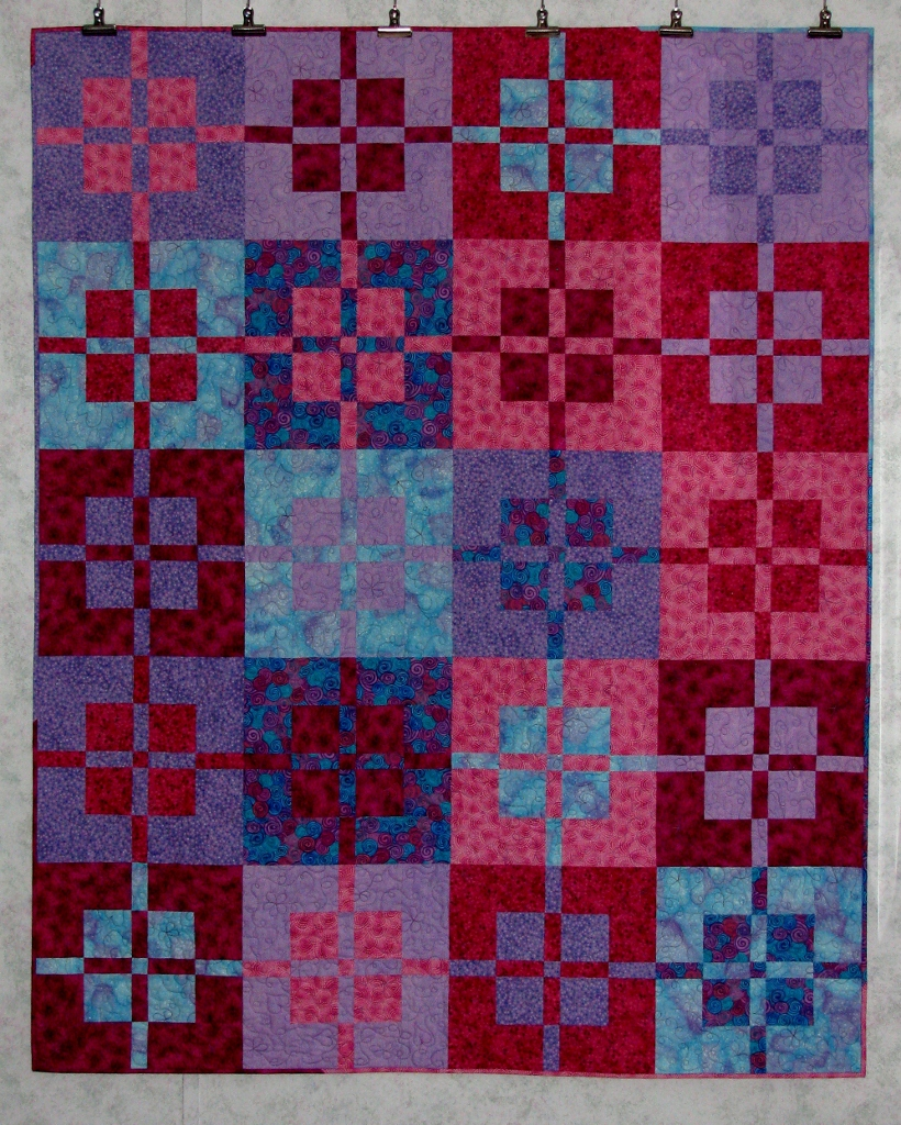 Covered In Stitches » A Pink/Purple Quilt For Granddaughters